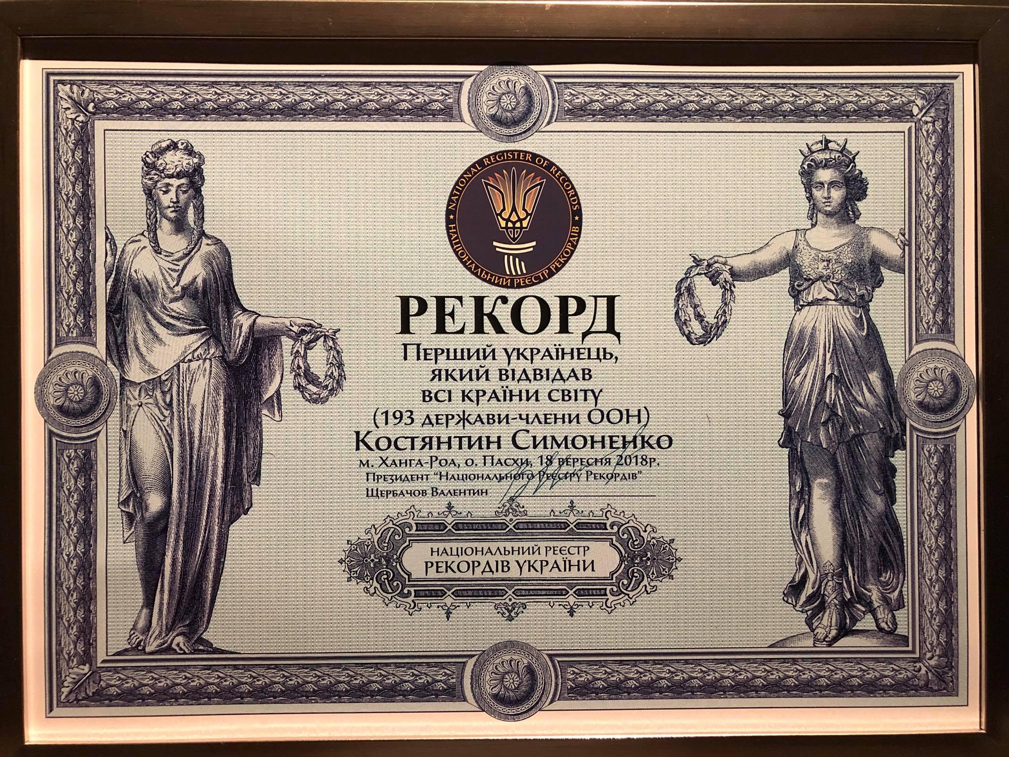 Национальный рекорд: появился первый украинец, которыйпосетил все страны мира (фото)