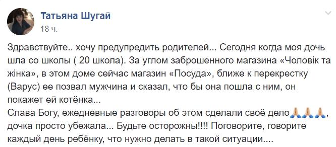 Котенка покажу: под Днепром мужчина пытался похитить ребенка
