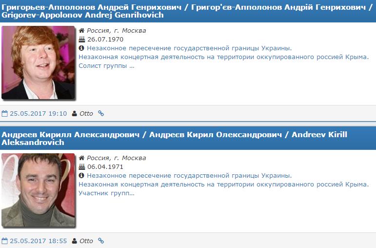Російській групі «Иванушки International» заборонили в'їзд доУкраїни натри роки