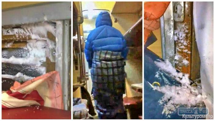 Пассажиры шокированы снегом иминусовой температурой впоезде Москва