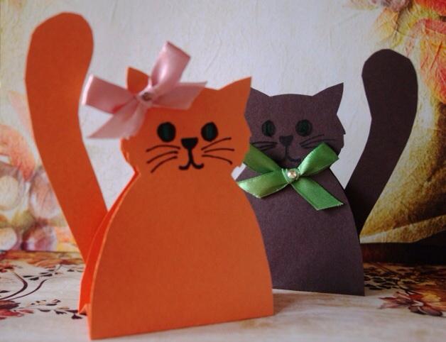 Кошечка из бумаги своими руками