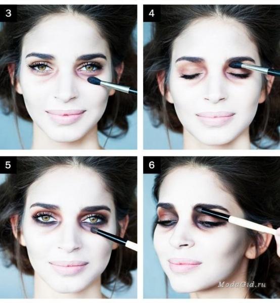 Простой макияж на Хэллоуин, создаем образ самостоятельно For 14