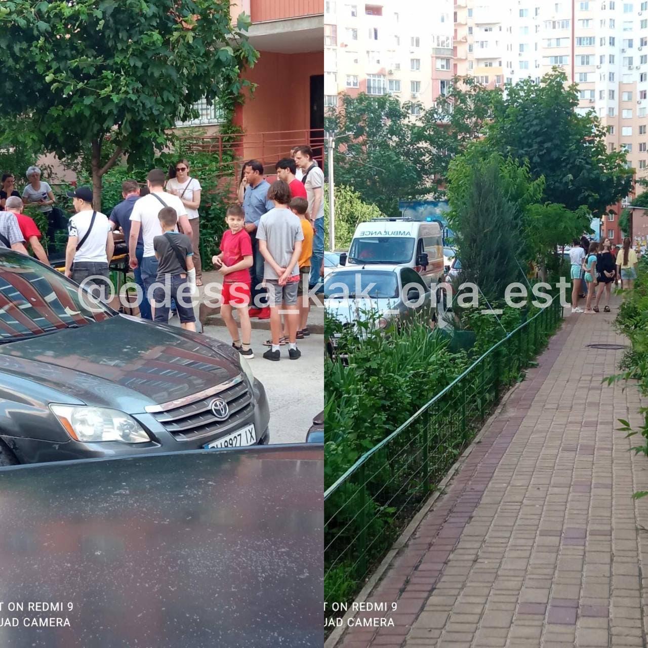 В Одессе девочка выпала с 9 этажа: жизнь ей спасла счастливая случайность (фото)