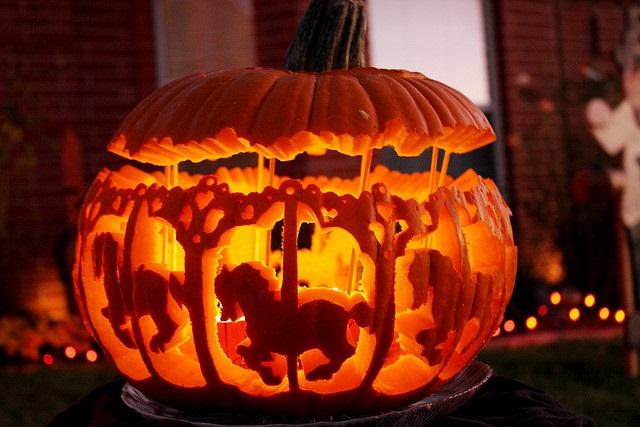Как сделать тыкву к хеллоуину видео