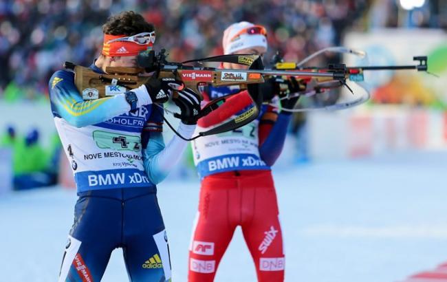 Украина выиграла «серебро» вмиксте начемпионате мира побиатлону
