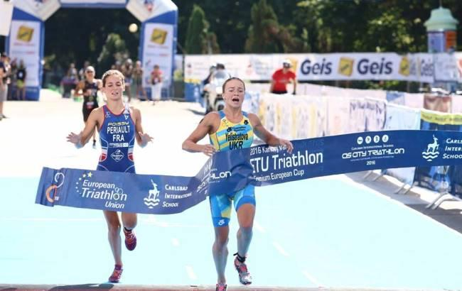 Украинская спортсменка выиграла Кубок Европы потриатлону