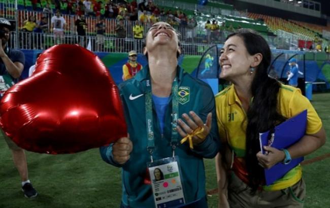 Девушка бразильской регбистки сделала ейпредложение после финала олимпийского турнира