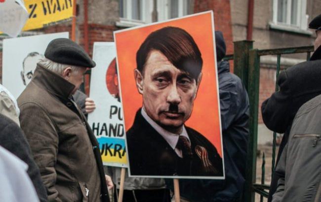 Пропагандисты Кремля перепутали В. Путина сГитлером