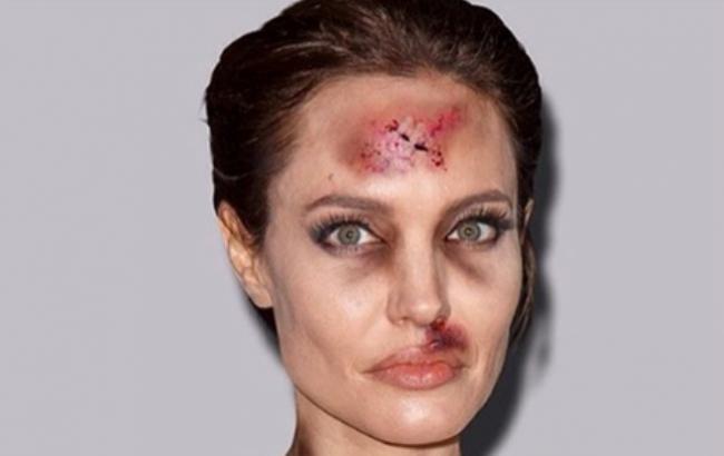 Итальянский художник изуродовал фото Сайрус и Джоли ради борьбы с насилием